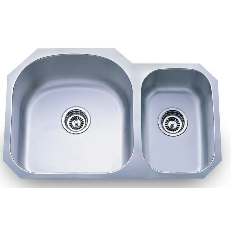 8052AL- double bowl stainless steel sink